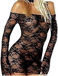 Womens Lingerie Corset Lace Bodysuit Babydolls Nighties Mini Dress