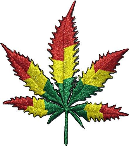 Marijuana Leaf Weed Hemp Dope Hippie Grass Ganja Bud Sew on Iron on Embroidered Applique Patch ()