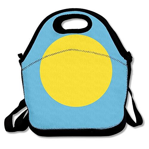 Sunmoonet Flag Of Palau Outdoor Lunch Bag Lunch Box Thermal Insulated Cooler Lunch Pouch Picnic Bag For School Gift