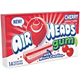 AirHeads Candy Sugar-Free Chewing Gum with Xylitol, Cherry, 14 Stick Pack (Bulk Pack of 12)