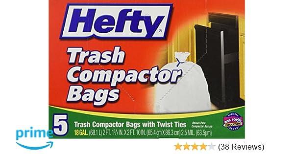 Hefty Trash Compactor Bags 18 GAL - 5 CT