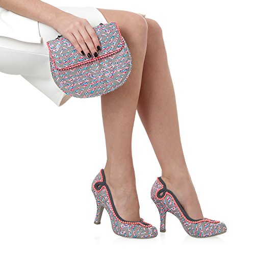 Bag Miley amp; Miami Pink Court Pumps Shoe Grey Matching Ruby Cream Pink Brocade Shoo Grey xZwq5YYz