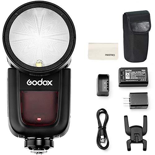 Godox V1-S Round Head Camera Flash Speedlite Flash for Sony DSLR Camera