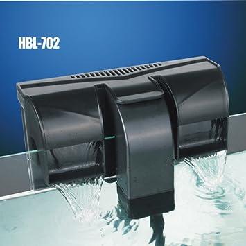 HBL 702 - filtro mochila externo tipo cascada, 7 W, 800 l/h, para acuario de agua dulce y marina: Amazon.es: Hogar
