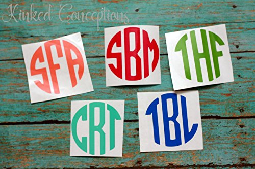 Small monogram stickers