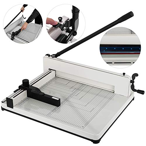 - Mophorn Paper Cutter A3 Industrial Heavy Duty Guillotine Trimmer 17Inch 400 Sheets Guillotine Paper Cutter Trimmer Machine (A3/17Inch)