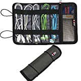 BUBM New Cable & Pens Holder, Cords Stable, Small Electronics Organizer Management Kit, Gray