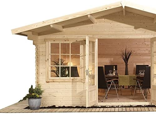 Nova 5 m x 5 m Lincoln Log Cabin – cabañas de madera: Amazon.es ...