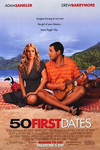 50 First Dates 11X17 Original Movie Poster Sandler Berrymore Sean Astin