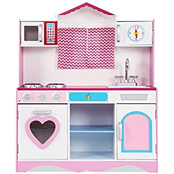 Amazon Com Best Choice Products Kids Wood Kitchen Toy
