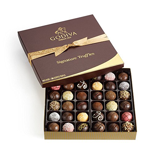 Godiva Chocolatier Assorted Signature Chocolate Truffles, Great for Gifts, Chocolate Lover's, Birthday Gift, Gourmet Chocolates, 36 pc