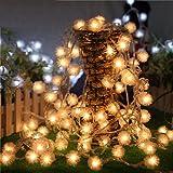 SEWORLD Fairy String Light Dandelion Shaped Curtain Lamp Party Wedding Outdoor Decor Yellow