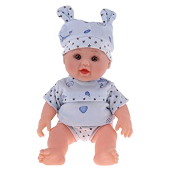 f18468d1855 Buy 30cm Flexible Vinyl Reborn Speaking Doll Model in Blue Clothes Hat Kids  Learning Toy Online at Low Prices in India - Amazon.in
