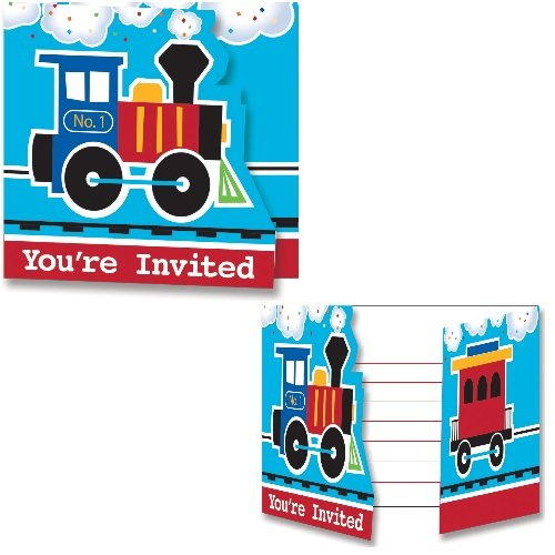 Creative Converting 324346 Train Party Invitation, One size, ()