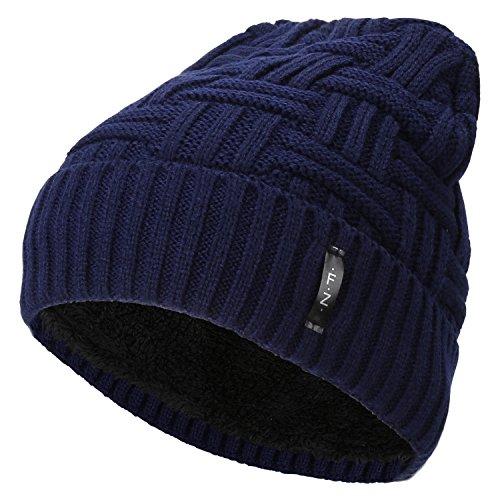Fantastic Zone Beanies Skull Caps Striped Knit Skull Caps Beanie Winter Hats For Men Blue One Size