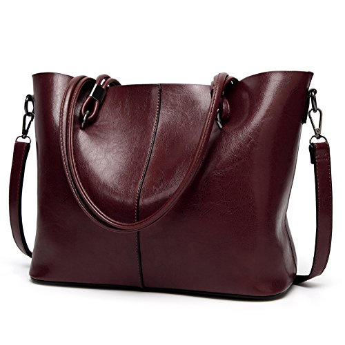 ELOMBR Women Purses and Handbags Ladies Shoulder Bag Top Handle Satchel Tote (Zip Shoulder Satchel)