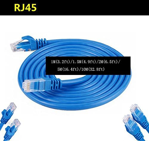 10M//32.8Feet - RJ45 Computer Networking Cord Blue Cat5e Ethernet Patch Cable