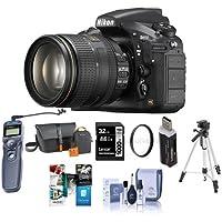 Nikon D810 DSLR Kit with AF-S NIKKOR 24-120mm f/4G ED VR Lens - Bundle w/Camera Bag, 32GB Class 10 SDHC Card, 77mm WA UV Filter, Cleaning Kit, Card Reader, Tripod, Remote Shutter Trigger, Software Kit