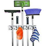 Home- It Mop and Broom Holder Wall Mount Garden Tool Storage Tool Rack Storage & Organization for the Home Plastic...