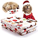 kiwitatá Pet Blanket for Small Dogs and Cats, Super Soft Warm Puppy Fleece Dog Sleep Mat Bed Covers for Bed, Couch, Car, Crate,Dog House and Carrier Bag (L,41″ x 30″)