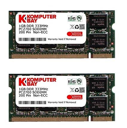 Komputerbay - Módulo de memoria portátil, SODIMM (200 pines), 2GB (2x1GB), DDR3, 333Mhz, PC2700