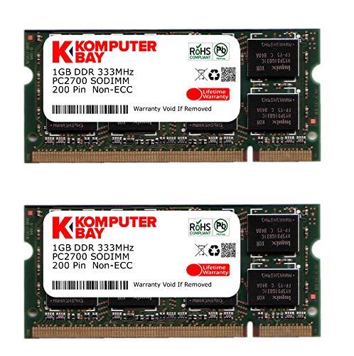 Memoria Ram 2gb (2x1gb) Ddr1 333mhz Sodimm Komputerbay