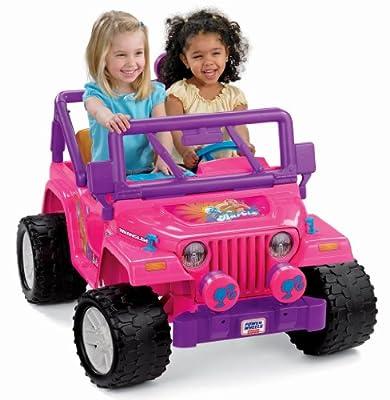 Power Wheels Barbie Jammin Jeep Wrangler by Fisher Price