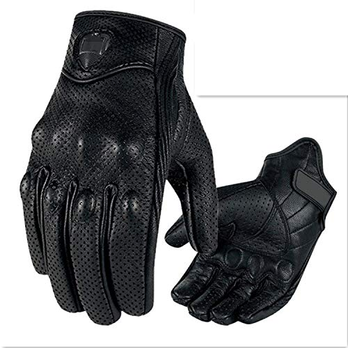 - Motorcycle Gloves Leather Breathable Gloves Racing Equipment Men's Gloves Gears Black,L,