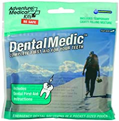 Nothing brings a person to their knees like a dental emergency; whether it is an infection, a lost filling or a fractured tooth. The Adventure Medical Kits' Dental Medic First Aid Kit contains the essentials for treating dental pain and injur...