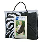 East Side Collection Polyester Zebra Sling Pet Carrier, Small