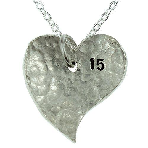 15ème Année anniversaire Collier cœur-Excellent Cadeau 15ème anniversaire pour votre femme