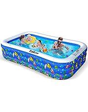 "Taiker Inflatable Swimming Pools, Kiddie Pools, Family Lounge Pools, Large Family Swimming Pool for Kids, Adults, Babies, Toddlers, Outdoor, Garden, Backyard (120"")"