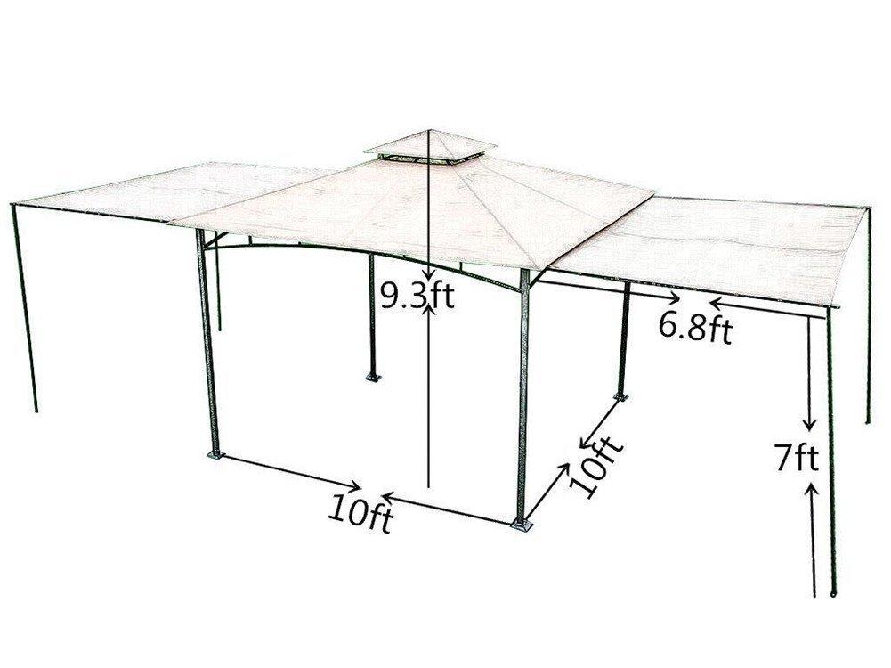 Amazon.de: ABBA Terrasse 10 x 10 ft Outdoor Art Edelstahl Rahmen ...