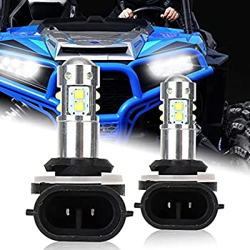 2x LED Headlight Bulb For Polaris ATV Ranger 400 570 700 800 ETX EV XP RZR 570
