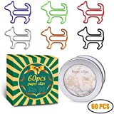 Paper Clips, Funny Dog Shape Paperclips for Office Supplier School Student, Secret Santa Gifts, Gag Gifts for Coworkers and Teacher Gifts.(60 pcs)
