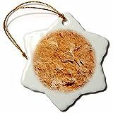 3dRose TDSwhite – Rock Photos - Pretty Rock Color - 3 inch Snowflake Porcelain Ornament (orn_281908_1)