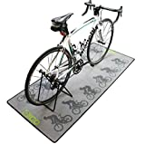 New 'Peleton' Design Turbo Trainer / Garage Bike Floor Mat (180cm x 80cm)