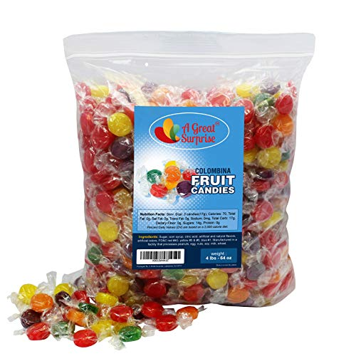 Fruit Flavored Hard Candy - Colombina Hard Candy, 4 LB Bulk Candy