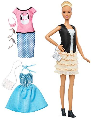 Barbie Fashionistas & Fashions Leather & Ruffles Doll, Tall Blonde ()