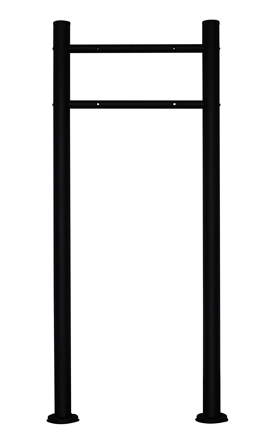 MPB502B AMOYLIMAI Modern Contemporary Urban Style Stainless Steel Painted Black Mailbox Post Letterbox Stand Hardware Kit - REAL STAINLESS STEEL 0.8MM THICK