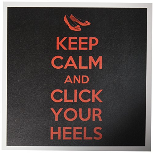 3dRose Keep Calm & Click Your Heels. Greeting Cards, 6
