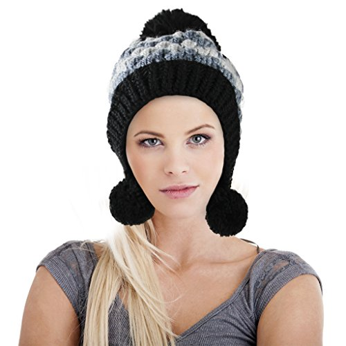[Women Ladies Fashion Knitted Hat Beanie Head Warmer Autumn Winter Warm Cozy Outdoor Sports Camping Hiking Cycling Ski Snowboarding Caps Crochet Beanie Hats, Xmas Holiday Gift] (Turban And Beard Costume)