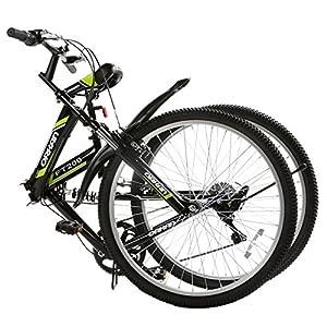 "GTM 26"" Folding Bike 7 Speed Shimano Hybrid Suspension BIke,Green"