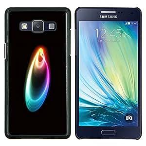 KLONGSHOP // Cubierta de piel con cierre a presión Shell trasero duro de goma Protección Caso - Colores - Samsung Galaxy A5 A5000 //