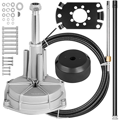 Mophorn SS13712 Safe-T Quick Connect Rotary Steering Kit Marine 14Ft