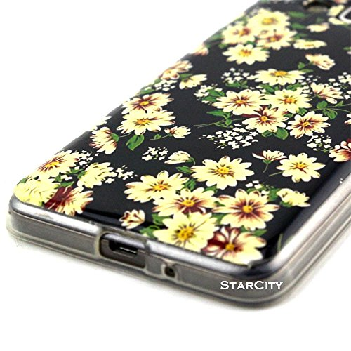 Galaxy Grand Prime Case, StarCity ® Samsung Galaxy Grand Prime [SM-G530] Case, [Lovely Small Floral Print] [Shock Absorbent] Flexible TPU Case Skin Gel Protective Cover Case (Flower Series_Beige Black)