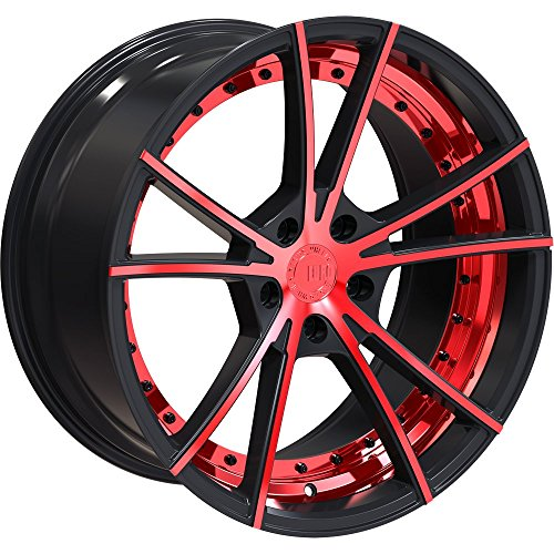 TXW ERW003 Wheels Gloss Black | Machined Face | Inner Polish | Red Liquid (20x10