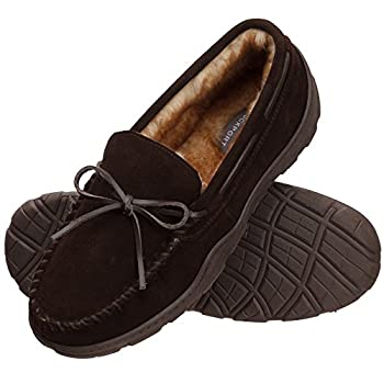 Rockport Men's Memory Foam Plush Suede Slip On Indooroutdoor Moccasin Slipper Shoe (Brown Moccasin, Size 13 Slipper) 0