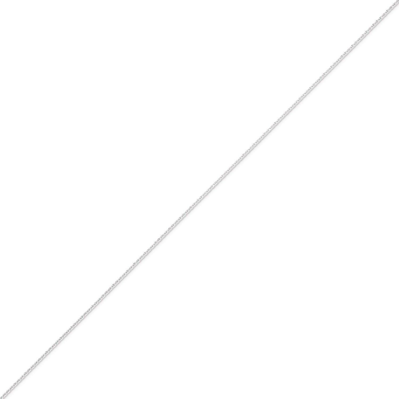 West Coast Jewelry Sterling Silver 1.25mm Diamond-Cut Round Spiga Chain