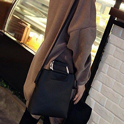 Piel gris 001 Gris Esailq Femme 001 Sac Bandoulière Hombro Bolsa De Noir wnwzF8